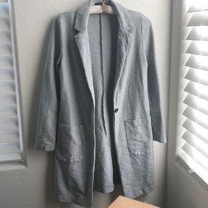 Papaya Lightweight Duster Sweater Jacket Size L